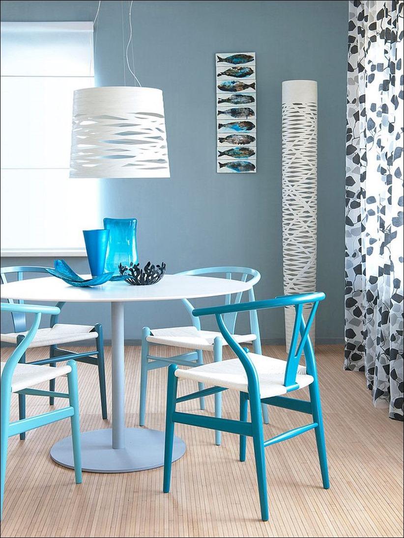 2902 dizayn interera 13 Как использовать разнообразные оттенки синего в столовой