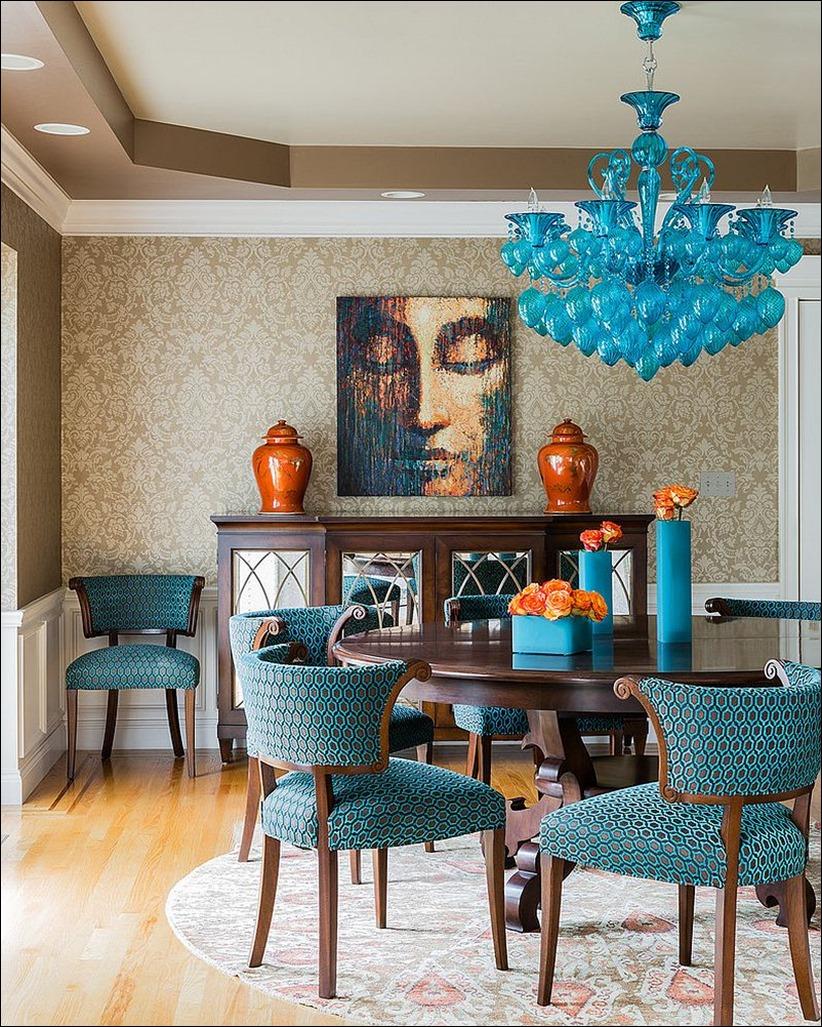 2902 dizayn interera 14 Как использовать разнообразные оттенки синего в столовой