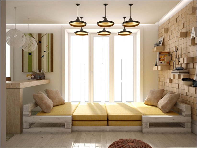 2905 dizayn interera 06 Дизайн открытой квартиры студии
