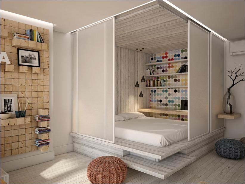 2905 dizayn interera 07 Дизайн открытой квартиры студии