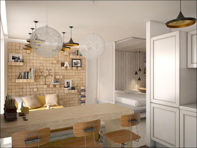 2905 dizayn interera 10 Дизайн открытой квартиры студии