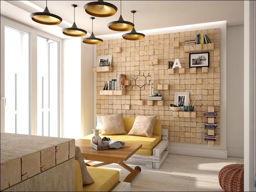2905 dizayn interera 11 Дизайн открытой квартиры студии