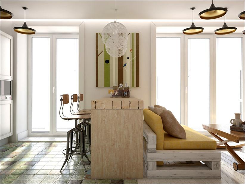2905 dizayn interera 14 Дизайн открытой квартиры студии