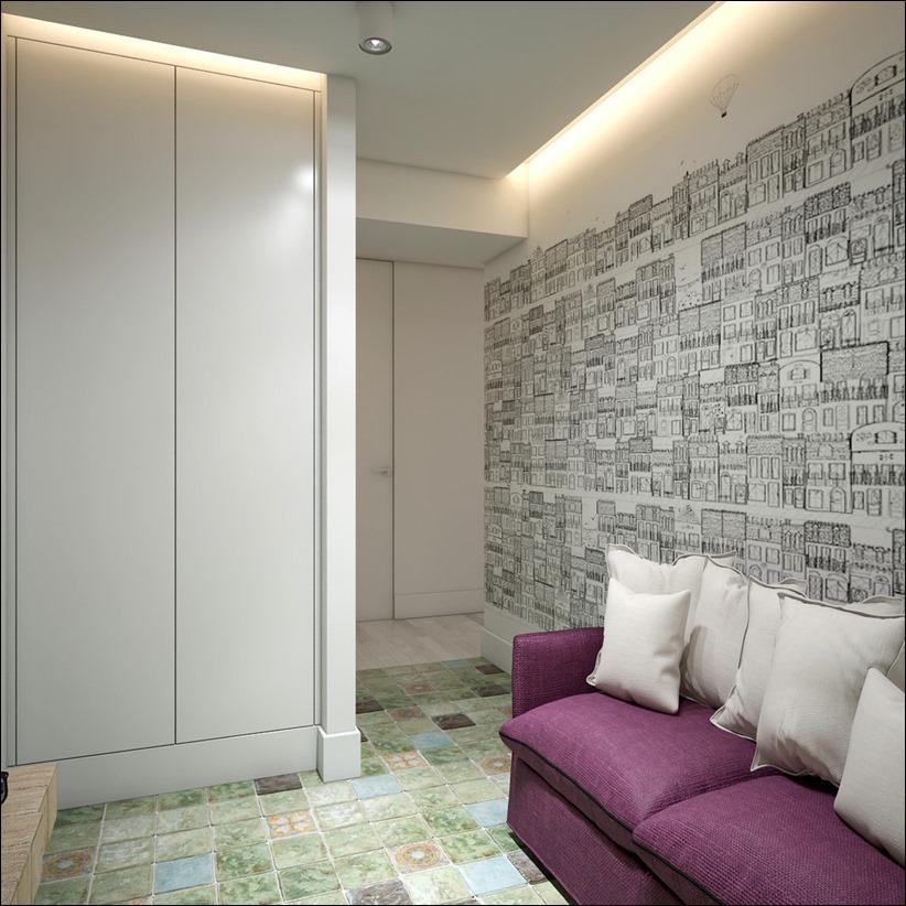 2905 dizayn interera 16 Дизайн открытой квартиры студии