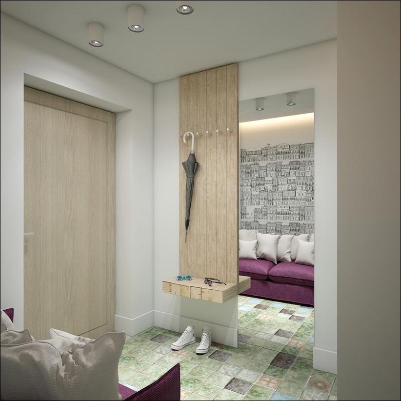 2905 dizayn interera 17 Дизайн открытой квартиры студии