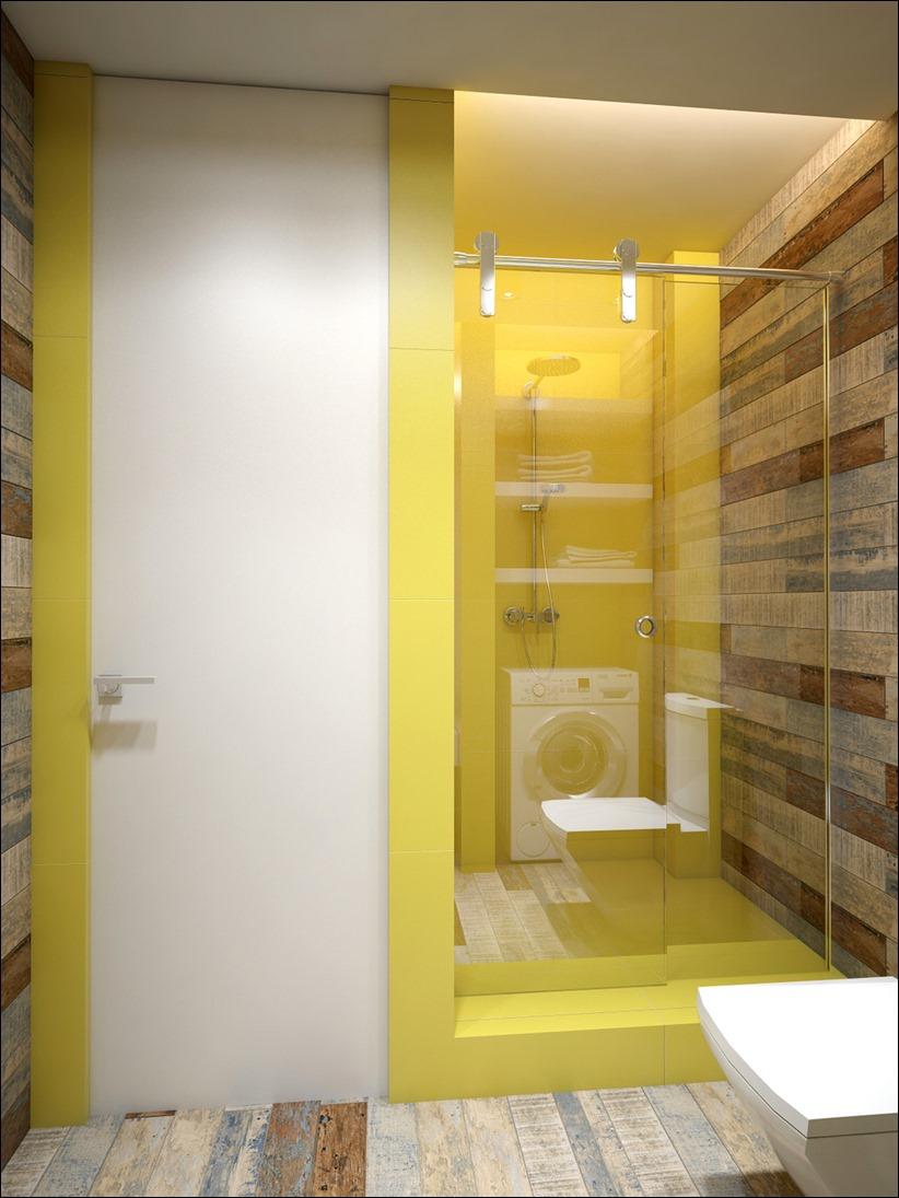 2905 dizayn interera 20 Дизайн открытой квартиры студии