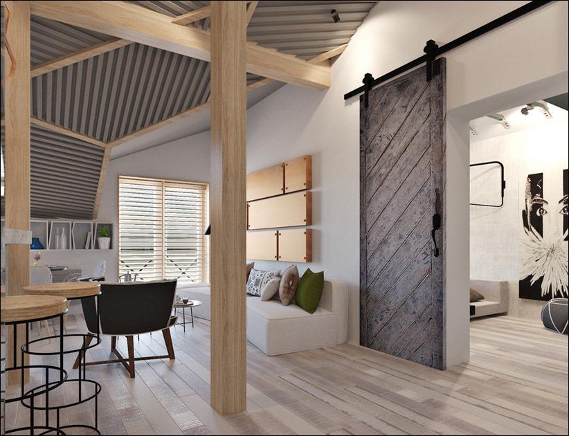 2920 dizayn interera 01 3 небольших квартир студий, оформленных в 3 различных стилях
