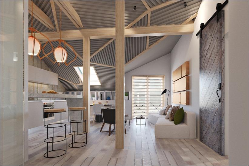 2920 dizayn interera 02 3 небольших квартир студий, оформленных в 3 различных стилях