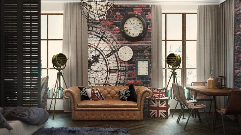 2920 dizayn interera 24 3 небольших квартир студий, оформленных в 3 различных стилях