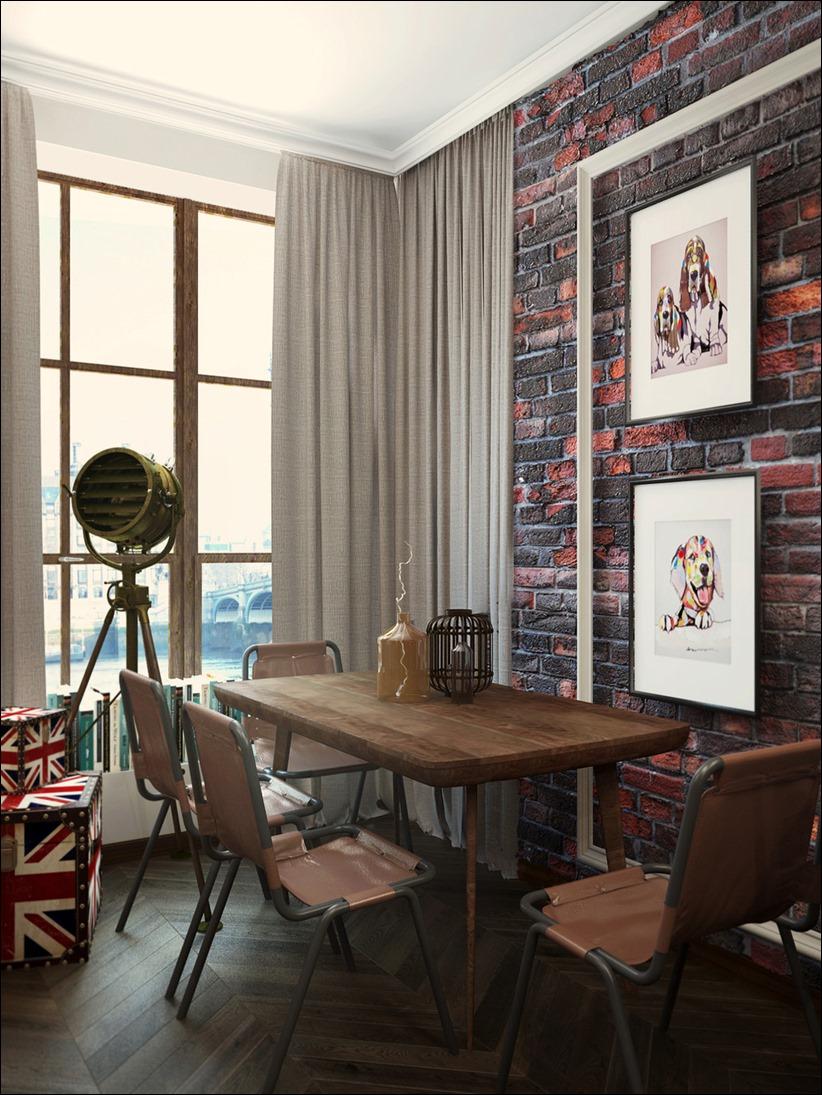 2920 dizayn interera 25 3 небольших квартир студий, оформленных в 3 различных стилях