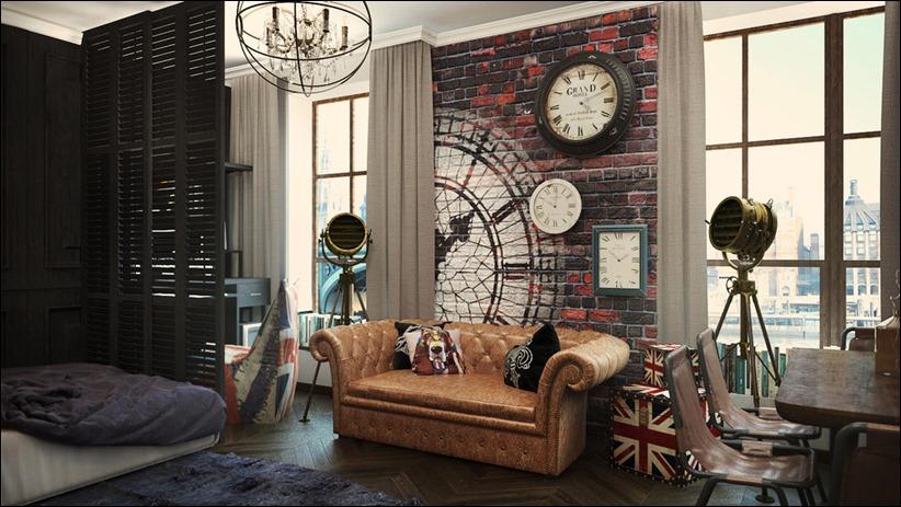 2920 dizayn interera 26 3 небольших квартир студий, оформленных в 3 различных стилях