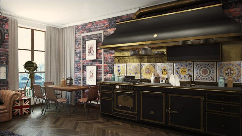 2920 dizayn interera 27 3 небольших квартир студий, оформленных в 3 различных стилях
