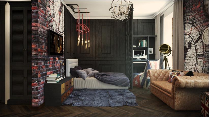 2920 dizayn interera 28 3 небольших квартир студий, оформленных в 3 различных стилях