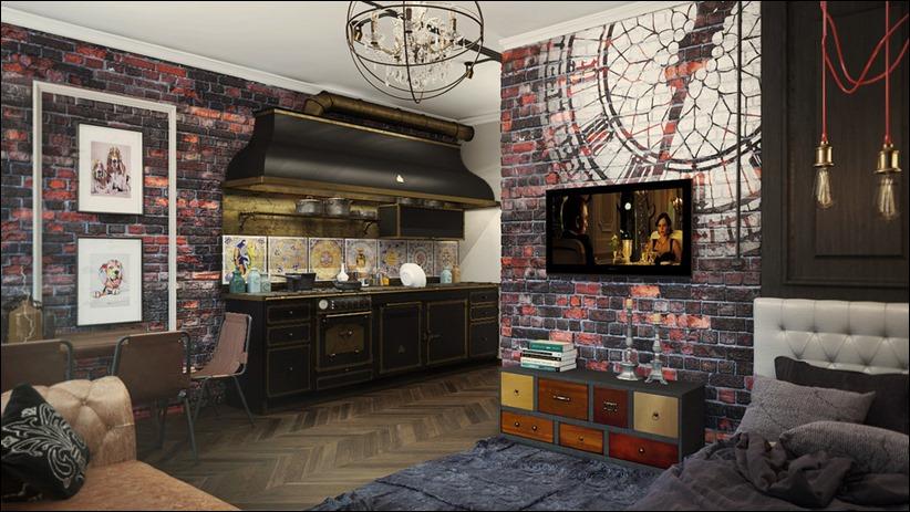 2920 dizayn interera 30 3 небольших квартир студий, оформленных в 3 различных стилях