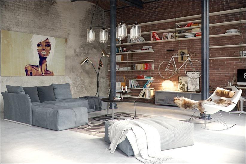 2923 dizayn interera 01 Старые цеха превращаются в стильные квартиры