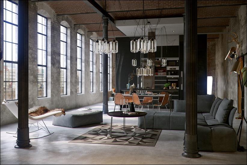 2923 dizayn interera 02 Старые цеха превращаются в стильные квартиры