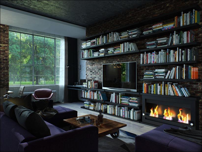 2923 dizayn interera 11 kopiya Старые цеха превращаются в стильные квартиры