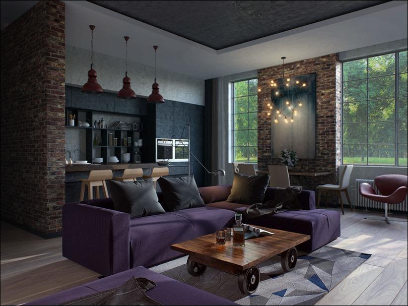 2923 dizayn interera 18 Старые цеха превращаются в стильные квартиры