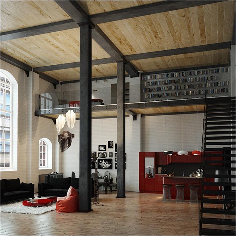 2923 dizayn interera 27 Старые цеха превращаются в стильные квартиры