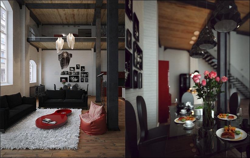 2923 dizayn interera 29 Старые цеха превращаются в стильные квартиры