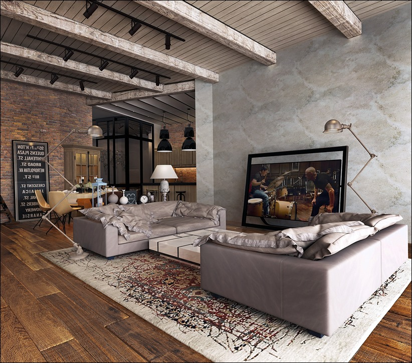 2923 dizayn interera 31 Старые цеха превращаются в стильные квартиры