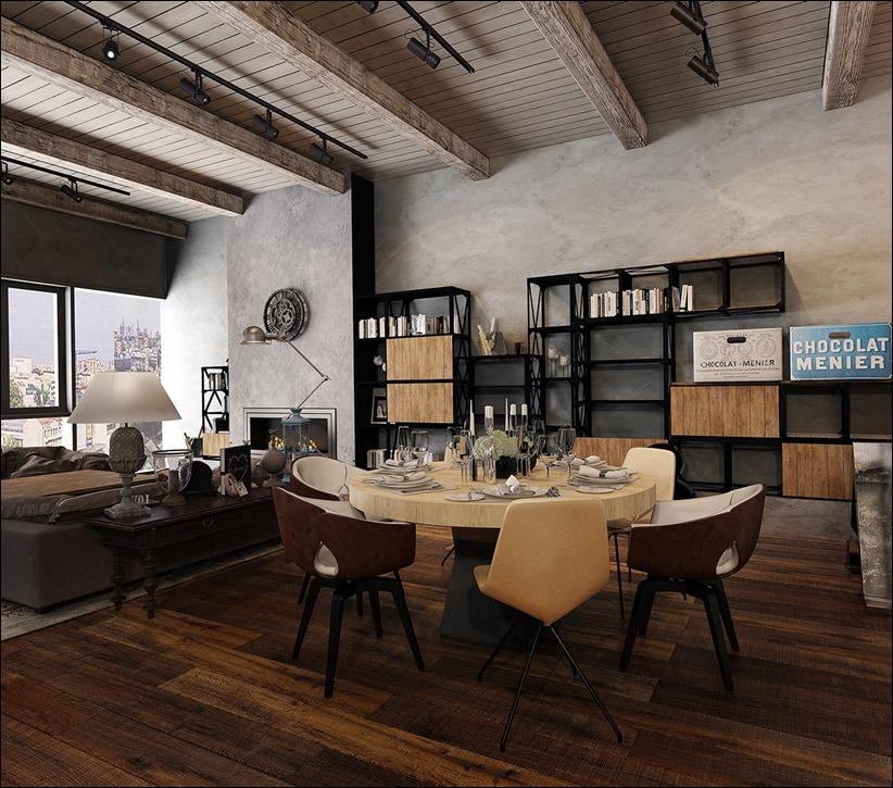 2923 dizayn interera 32 Старые цеха превращаются в стильные квартиры