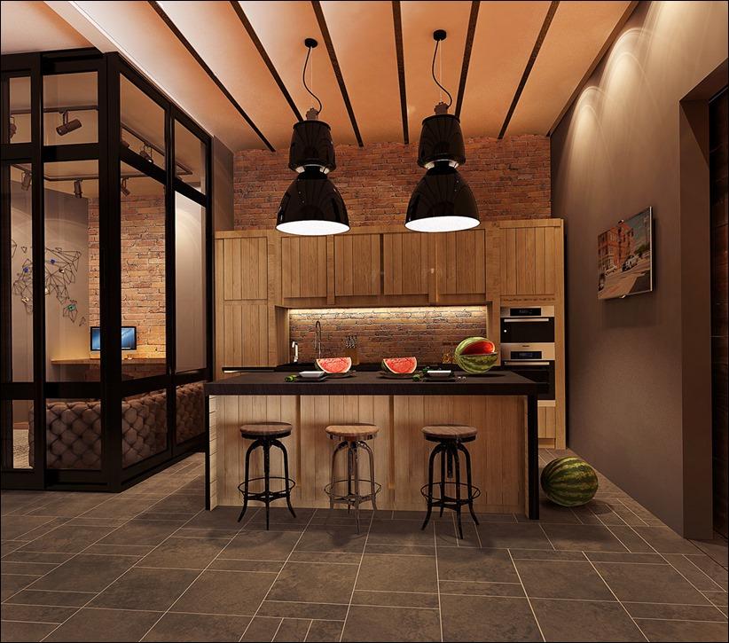 2923 dizayn interera 33 Старые цеха превращаются в стильные квартиры